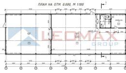 Тёплый склад ПИР 8,18х24,32 м (198,94 м2)